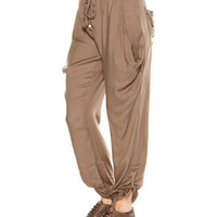 SURFSTITCH - WOMENS - PANTS - BEACH - AUGUST STREET CELESTIAL DRAPE PANT - TAUPE