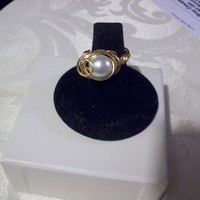 Swarovski Pearl Swirl Ring