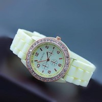 Mint Color Silicone Watch 05B by goodbuy on Zibbet