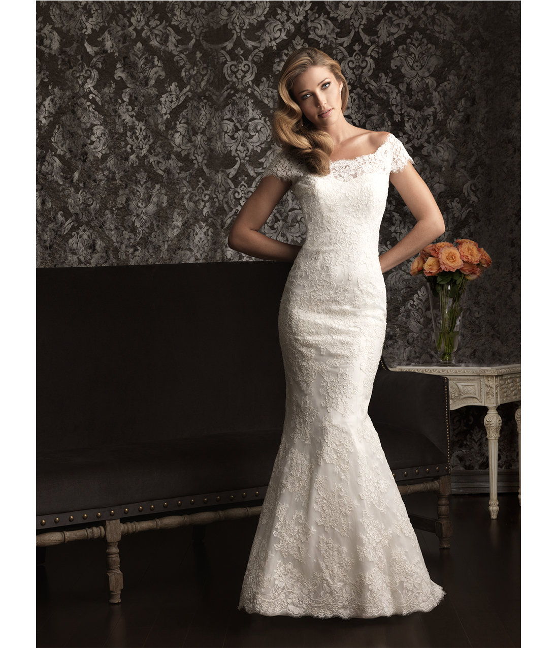 2013 Allure Bridal White Lace f The from Unique Vintage