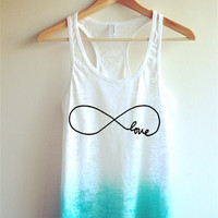Infinity Love Tie Dye Tank Top