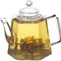 GROSCHE VIENNA Stove top water Kettle and Infuser glass Teapot 1250ml 42 fl. oz