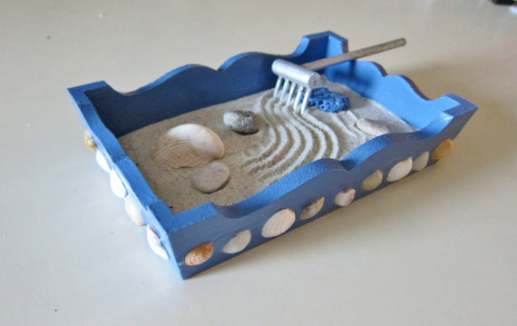 Mini Zen Garden Beach Home Decor Office From