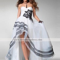 Elegant Prom Dress with High-Low Hem, Prom Dress Evening Gown
