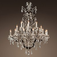 19th C. Rococo Iron & Crystal Chandelier Extra-Large | Chandeliers | Restoration Hardware