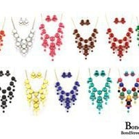 Wholesale Assortment of 6 Bubble Necklace & Earring Set:Amazon:Jewelry