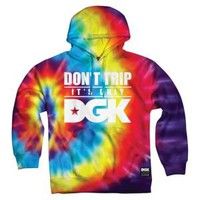 DGK Don't Trip Tie Dye Pullover Sweatshirt - Men's at CCS