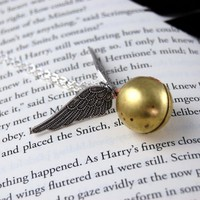 Golden Snitch Necklace - by TwilighterVA | TwilighterVA - Jewelry on ArtFire