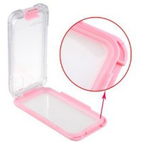 AGPtek® 20ft Waterproof Hard Case Cover (pink) for Apple iPhone 4 4S 5S 5C w/ Pink Neck Strap