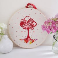 "Magic Tweetie Tree 9"" Embroidery Hoop Wall Art"