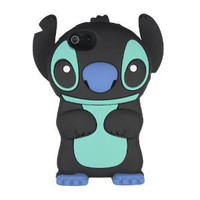 Amazon.com: niceEshop(TM) Black Cute 3D Stitch with Movable Ears Silicone Rubber Soft Case Cover Fit for the New iPhone5 5G +Free Screen Protector: Cell Phones & Accessories