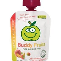 Buddy Fruits Pure Blended Fruit To Go, Multifruit and Apple, 3.2-Ounce Packages (Pack of 18)
