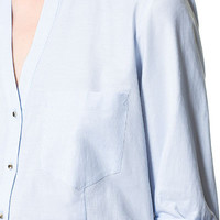 V - NECK SHIRT - Shirts - Woman - New collection | ZARA United States