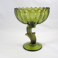 Indiana Glass Lotus Blossom Compote | SuesBoutique - Home Decor on ArtFire