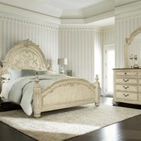 Jessica McClintock White Veil Queen Mansion Bed