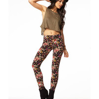 Floral Print Knit Leggings | FOREVER 21 - 2000049228