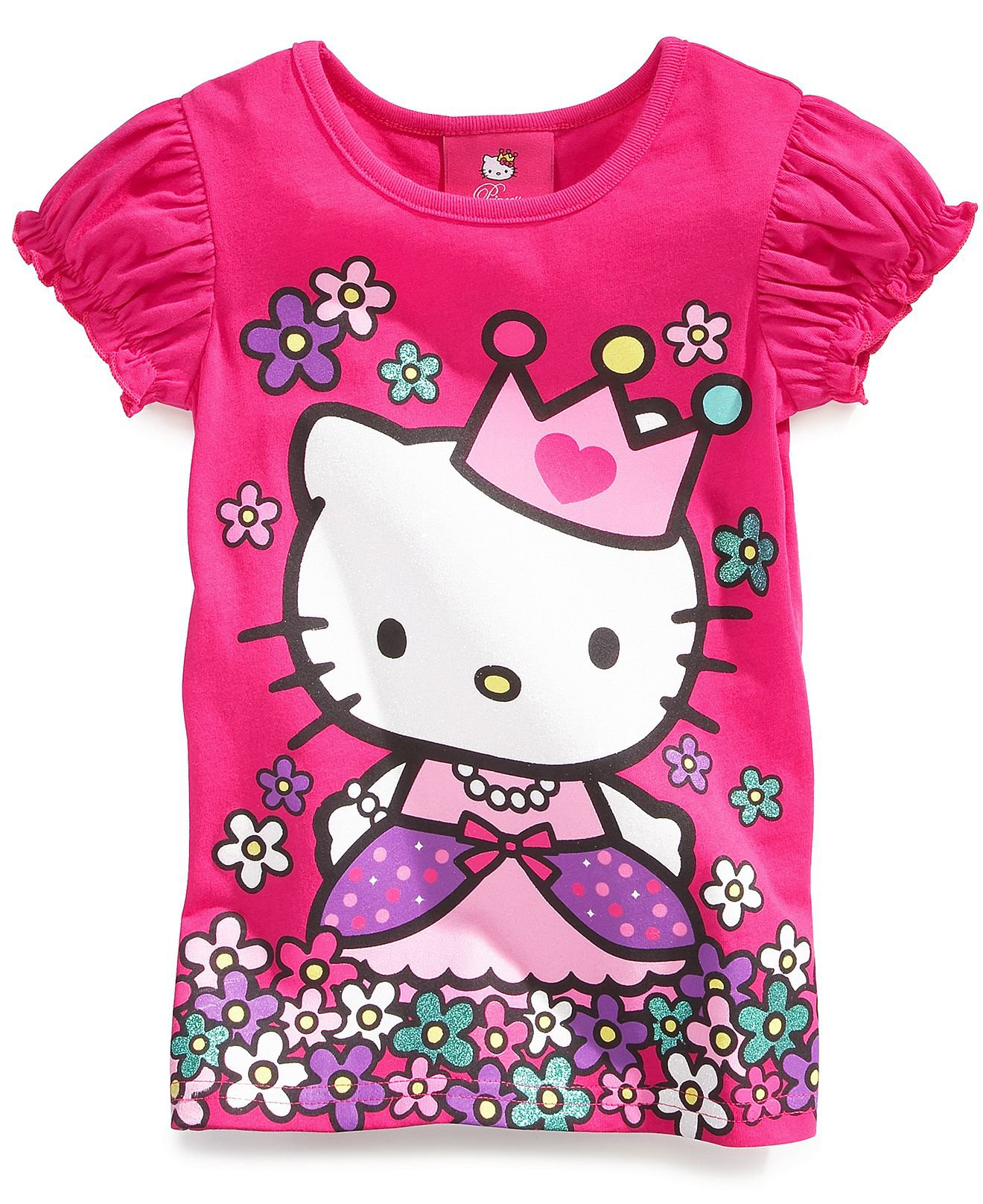 Hello kitty kids t shirts little girls from macys for Hello kitty t shirt design