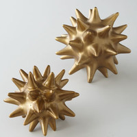 Dwell Studios by Global Views Golden Urchin Sculpture