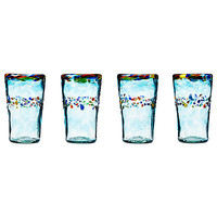 RECYCLED HIGHBALL GLASSES - SET OF 4