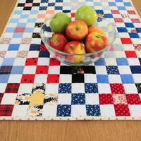 Primitive Patchwork Table Runner