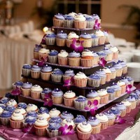 Dress My Cupcake Laila Large 5-Tier Square Cardboard Cupcake Tower, Holds 100 Cupcakes! - Stands, Displays, Trees for Cakes & Desserts