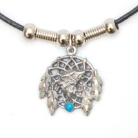 Wolf Dream Catcher Necklace