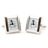 Contemporary Working Watch Cufflinks by Cuff-Daddy