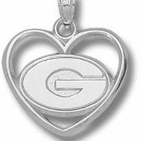 Georgia Bulldogs UGA NCAA Sterling Silver Charm