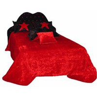 Hot Red Bed Spread | Modern contemporary bedding, bedroom furniture and sleek and modern beds