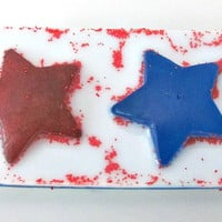 Fourth of July Patriotic Coconut Milk and Glycerin Soap (Stars, Red, White and Blue)