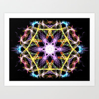 Digital Mandala Art Print by Vargamari