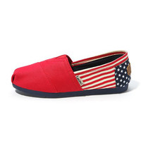 COOL and Fashion new women's canvas shoes cloth shoes flag
