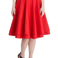 Essential Elegance Skirt in Red | Mod Retro Vintage Skirts | ModCloth.com