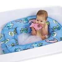 Leachco Bath 'N Bumper - Cushioned Bath Tub - Blue Fish