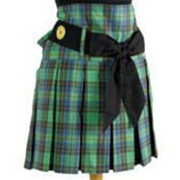 green plaid apron
