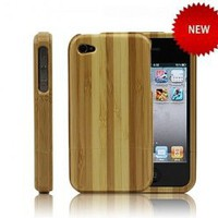 Generic Handmade True Bamboo Case for iPhone 4 / 4s Color Wood