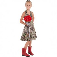 Camo Formal Wear :: Girls :: Realtree APG Girls A-Line Short Dress - The RealStore at Realtree.com