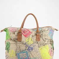 Urban Outfitters - Ecote Neon Map Weekender Bag
