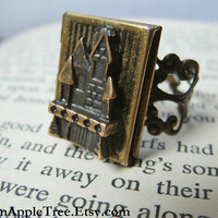 Bronze Fairy Tale Storybook Locket Ring