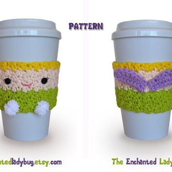 crochet patterns for coffee cozies on Etsy, a global