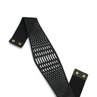 Perfectly-Perforated-Belt BEIGE BLACK - GoJane.com