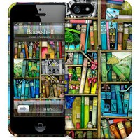 OEM GelaSkins Colorful Bookshelf Hard Case for iPhone 5