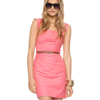 Squared Cap Sleeve Dress w/Belt | FOREVER21 - 2015035598