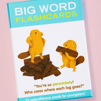 Big Word Flashcards | Knock Knock Flashcards | fredflare.com