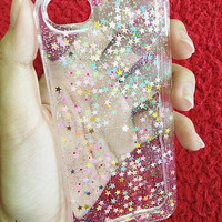 COLORFUL ON CLEAR  - iphone case, glitter case for iphone4/4s, iphone5