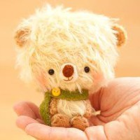 Timu miniature mohair bear collectible toy made by knittingdreams