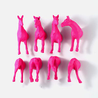 Pink Horse magnets for teen girls or Pink Wedding favor - pink escort cards - pink placecards