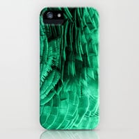 RUFFLED GREEN iPhone & iPod Case by catspaws