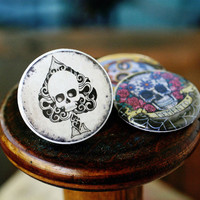 Interchangeable Day of the Dead Skull Ring by Polarity & ShayneoftheDead