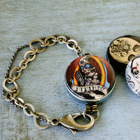 Interchangeable Day of the Dead Skull Bracelet by Polarity & ShayneoftheDead